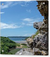 View From Pennard Castle Portrait Acrylic Print