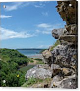 View From Pennard Castle Square Acrylic Print