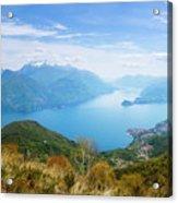 View From Rifugio Menaggio Lake Como Italy Acrylic Print