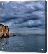 View Of Castel Dell Ovo  Acrylic Print