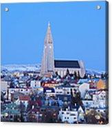 View Of Hallgrimskirkja Church Acrylic Print