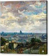 View Of Paris - Digital Remastered Edition Acrylic Print