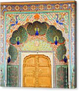 View Of Peacock Door In Palace Acrylic Print