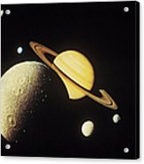 View Of Planets In The Solar System Acrylic Print