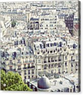 View Of Roofs Of Paris Acrylic Print
