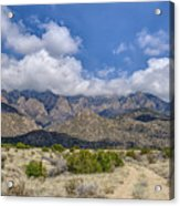 View Of Sandia Mountain Acrylic Print