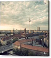 View Over Berlin Mitte At Evening Acrylic Print