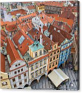 View Over The Rooftops Of The Old Town Acrylic Print