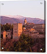 View To The Alhambra At Sunset Acrylic Print