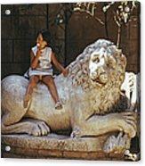 Villa Borghese Lion Acrylic Print