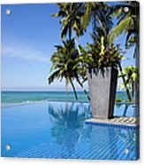 Villa Hotel Swimming Pool Sri Lanka Acrylic Print