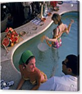 Villa Vera Pool Bar Acrylic Print