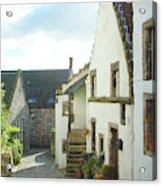 village cobbled lane in Culross Acrylic Print