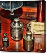 Vintage Apothecary Pharmacist Weights And Scale Acrylic Print