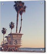 Vintage California Life Guard Station - Acrylic Print