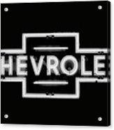 Vintage Chevrolet Neon Sign Acrylic Print