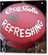 Vintage Coca Cola Sign Asia Acrylic Print