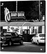 Vintage Dairy Queen At Night Acrylic Print