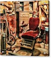 Vintage Dentist Office And Drill Acrylic Print