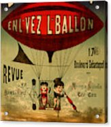 Vintage Hot Air Balloon Acrylic Print