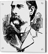 Vintage Newspaper Wyatt Earp Portrait 1896 - T-shirt Acrylic Print