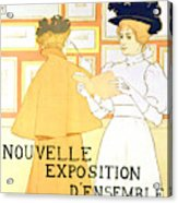 Vintage Poster Advertising A Exhibition At The Salon Des Cent, 1896  Acrylic Print