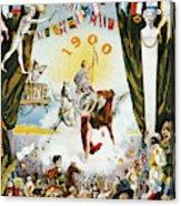 Vintage Poster - Mobile Mardi Gras Acrylic Print
