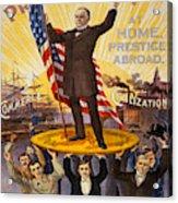 Vintage Poster - William Mckinley Acrylic Print