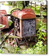 Vintage Rusted Tractor Acrylic Print