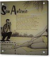 Vintage San Antonio Advertisement Acrylic Print