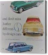Vintage Studebaker Advertisement Acrylic Print