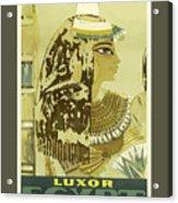 Vintage Travel Poster - Luxor, Egypt Acrylic Print