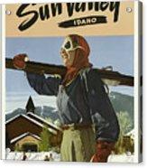 Vintage Travel Poster - Sun Valley, Idaho Acrylic Print