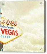 Vintage Welcome To Fabulous Las Vegas Acrylic Print