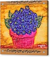 Violets Are  Blue  Acrylic Print