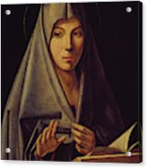 Virgin Annunciate By Messina Acrylic Print
