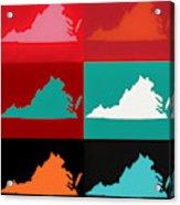 Virginia Pop Art Map Acrylic Print