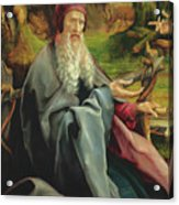 Visit Of Saint Anthony To Saint Paul The Hermit, Detail From The Isenheim Altarpiece Acrylic Print