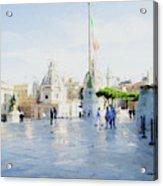Vittorio Emanuele In Rain Acrylic Print