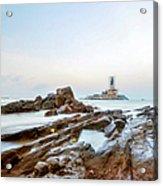 Vivekanandar Rock & Thiruvalluvar Acrylic Print