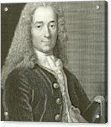 Voltaire Portrait, Engraving Acrylic Print