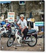 Waiting At The Fish Market, Hoi An, Vietnam Acrylic Print