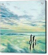 Walk At Sunset Acrylic Print