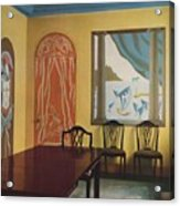 Wall Decorations In A Flat At Portman Acrylic Print