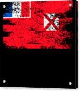 Wallis Futuna Shirt Gift Country Flag Patriotic Travel Oceania Light Acrylic Print