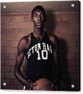 Walt Dukes Holding Basketball Acrylic Print