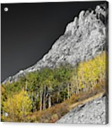 Waning Gibbous Moon Autumn Monarch Pass Bwsc Acrylic Print