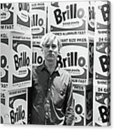 Warhol & Brillo Boxes At Stable Gallery Acrylic Print
