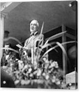 Warren Harding Giving Speech Acrylic Print