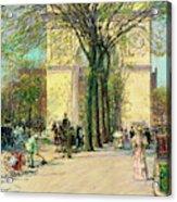 Washington Arch, Spring - Digital Remastered Edition Acrylic Print